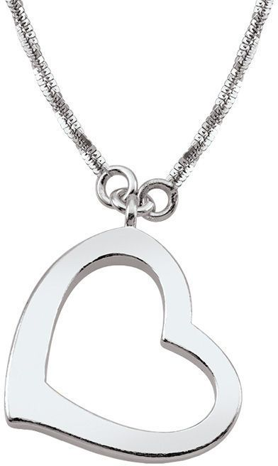 Zales Persona® Sterling Silver Heart Criss-Cross Chain Necklace - 32""