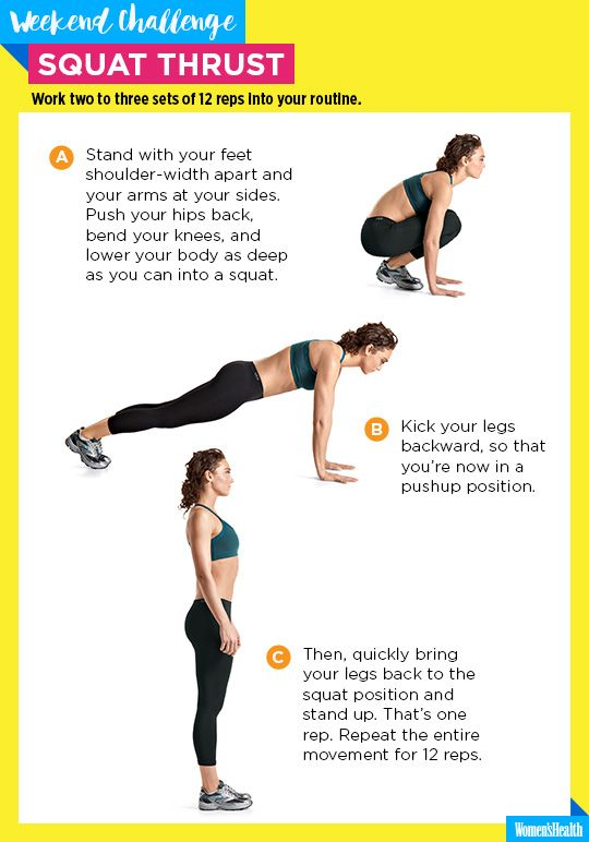 You NEED This Hurt-So-Good Sculpting Move in Your Life  http://www.womenshealthmag.com/fitness/squat-thrust-challenge