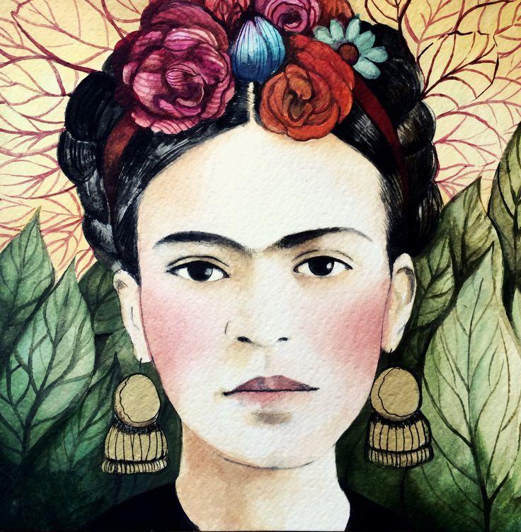 Frida art print by claudiatremblay on Etsy https://www.etsy.com/listing/190029107/frida-art-print