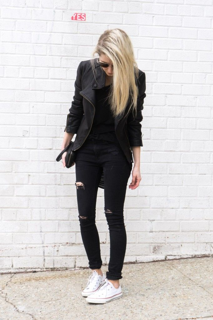 figtny.com | outfit • 45 - blk on blk on blk nd white all stars