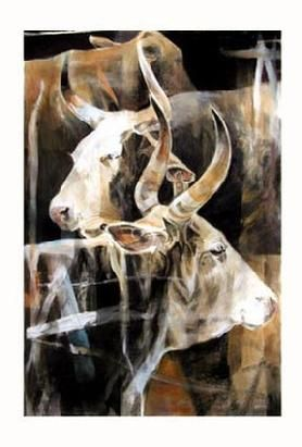 CATTLE ART/ COWS AS GODS/ RANCH ART