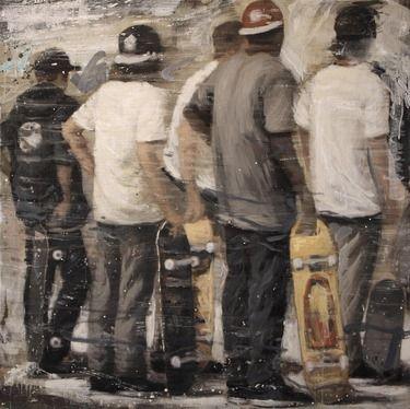 """Saatchi+Online+Artist+Kjetil+Jul;+Painting,+""""Street+Scene""""+#art"""