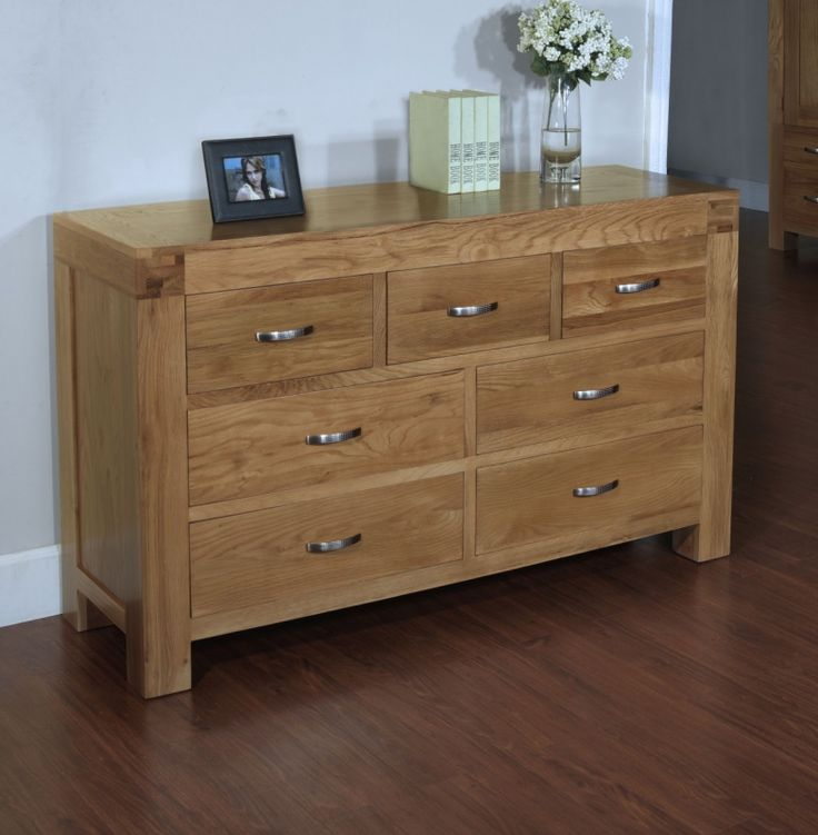 Dining Room Chest Of Drawers: Santana Blonde Oak Furniture 3 Over 4 Chest Of Drawers