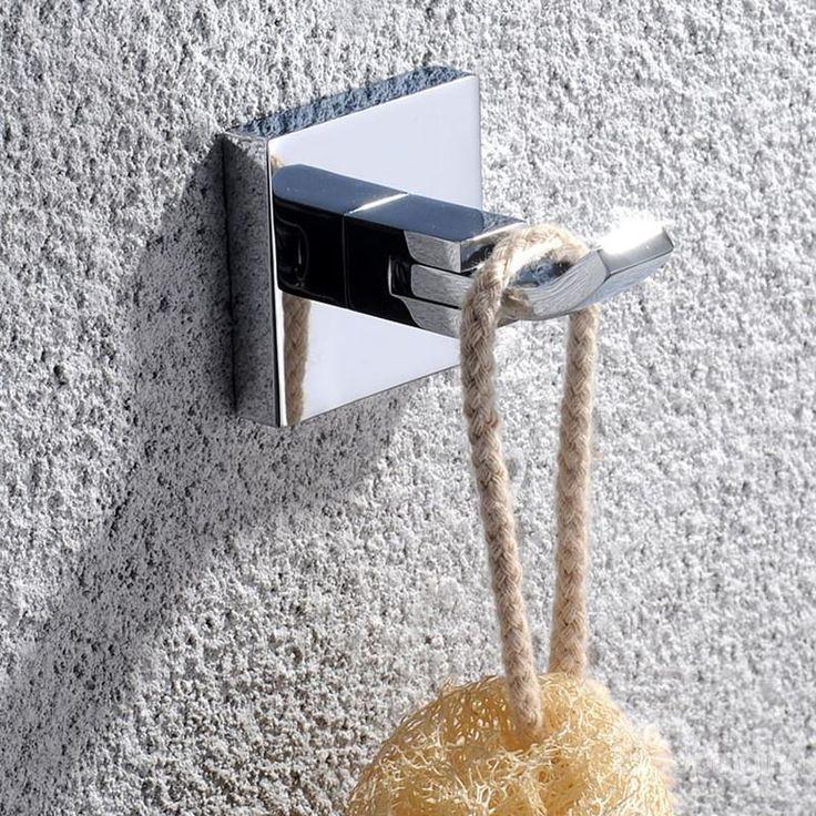 Modern Bathroom Accessories Solid Brass Robe Hook