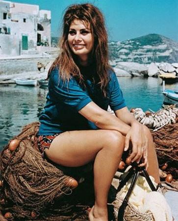 Sofia Loren---''Boy on a Dolphin'' (1957) on the lovely Greek isle of Hydra.