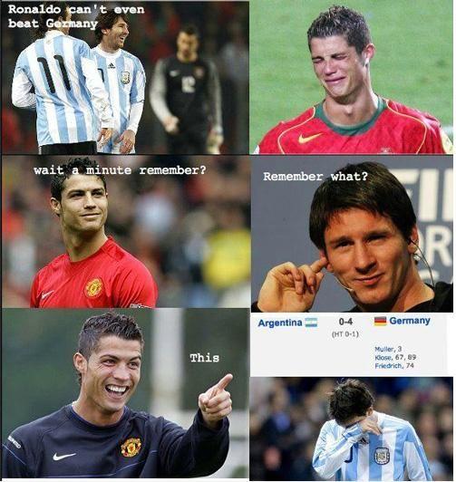 Ronaldo Messi funny conversation