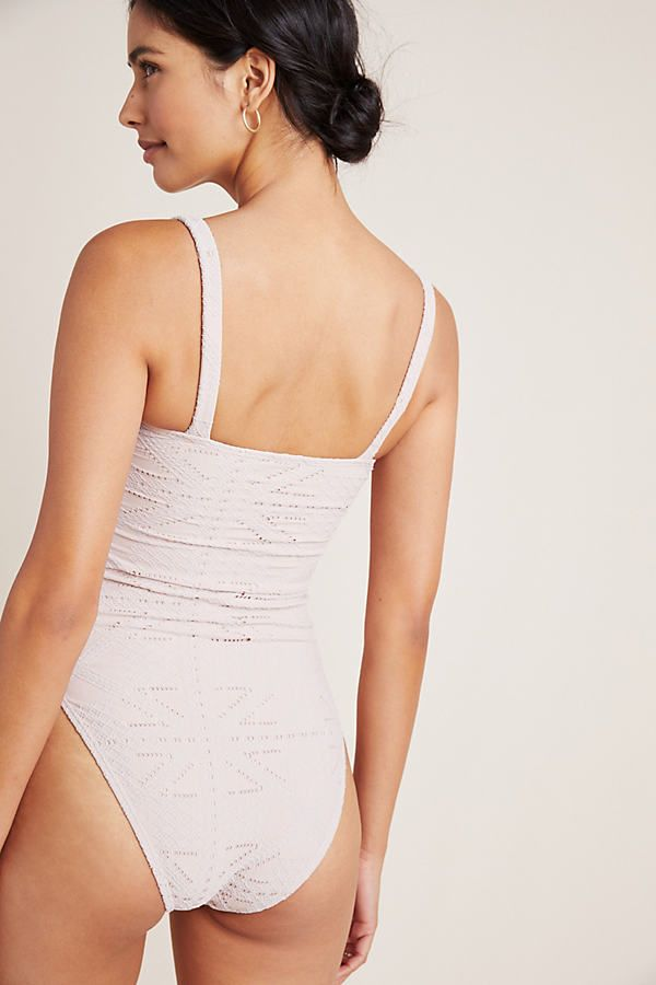PilyQ Corset One-Piece Swimsuit by in Beige Size: S, Women's Swimwear at Anthropologie 7