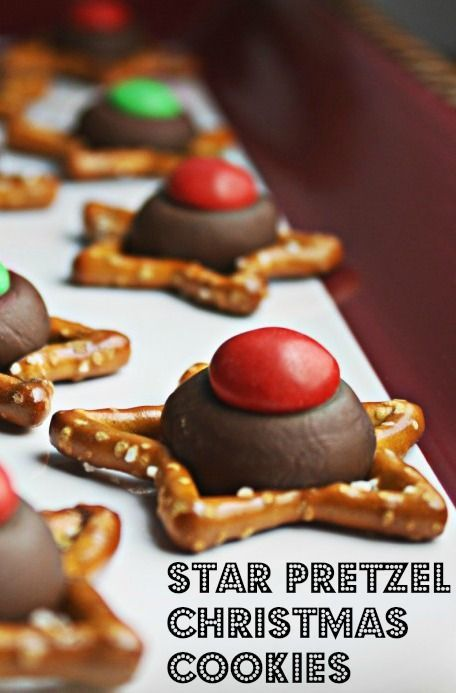 chocolate christmas pretzel cookies