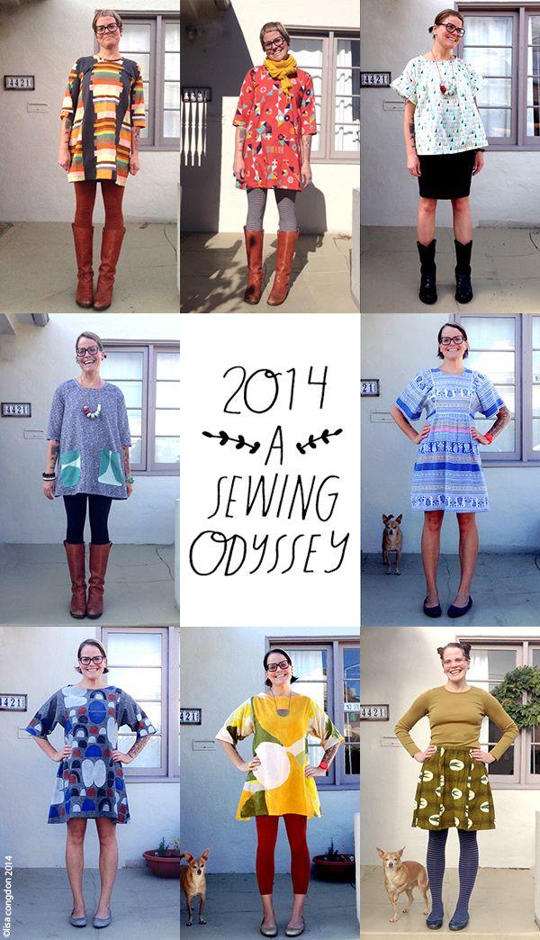 Lisa Congdon's sewing odyssey 2014