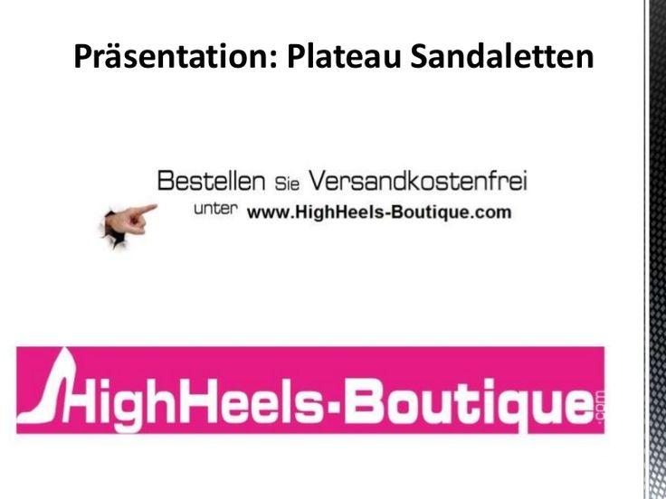 Plateau Sandaletten sind der ideale Schuh für den Sommer aber auch für die Ballsaison im Winter. Plateausandaletten sind ein Must-Have und perfektes Accessoire für die Frau von heute. Besonders gut lassen sich Plateau Sandalen zu Kleidern und Strandoutfits kombinieren. Besondere Hingucker bei Plateau Sandaletten sind Schleifchen, Strasssteine und Riemchen.  LINK: www.HighHeels-Boutique.com