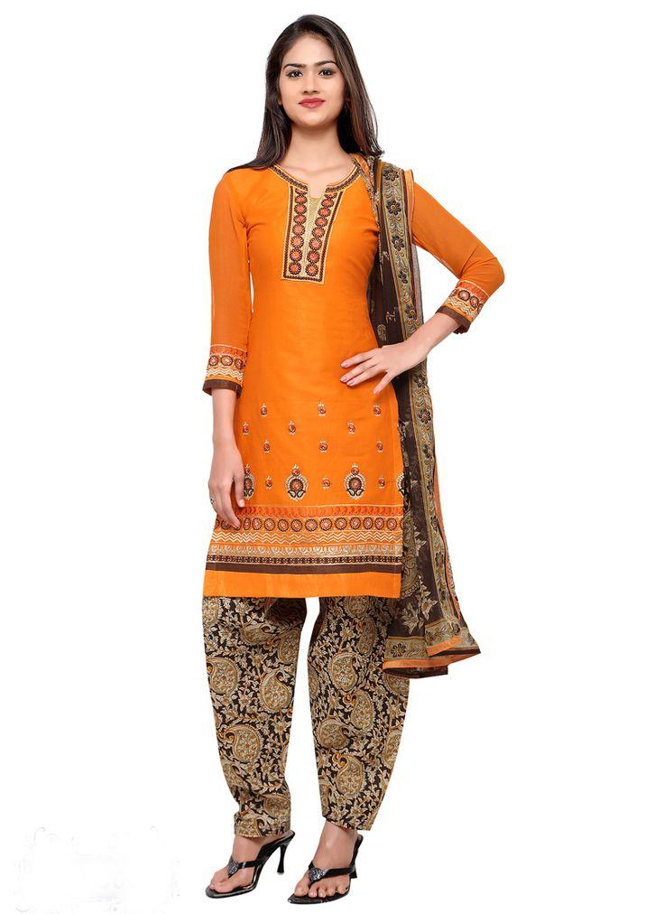 #Orange #Cotton #Straight Cut #Shalwar #Kameez #nikvik  #usa #designer #australia #canada #freeshipping #ceremonial #pakistani
