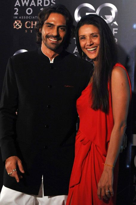 Arjun rampal with his beautiful wife Meher at GQ men of the year awards.
