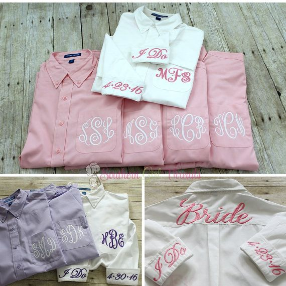 Monogrammed Bridesmaid Shirt Bridesmaid by SouthernGirlThreads