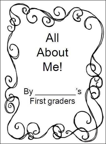 Have your 1st grade students create an All About Me book