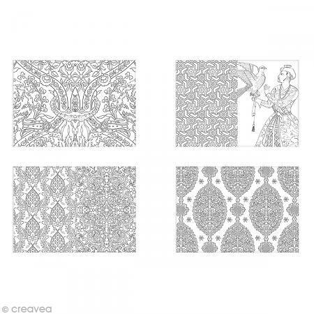 Livre coloriage adulte anti-stress - Merveilles d'Orient - 13,8 x 19,5 cm - 100 coloriages - Photo n°2