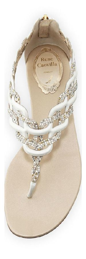 excellent summer sandals in white silver by Rene Caovilla