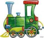 Bügelmotiv Lokomotive / Eisenbahn