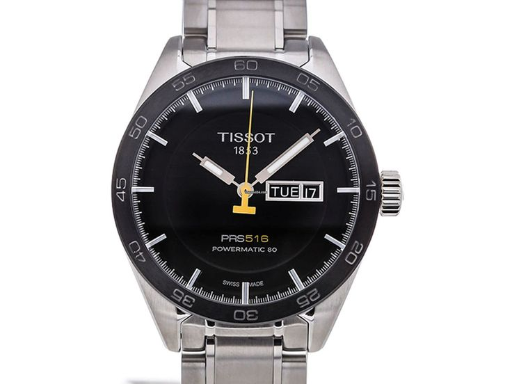 Tissot PRS 516 Powermatic 80 Black Dial Men's Watch for $909 for sale from a Trusted Seller on Chrono24