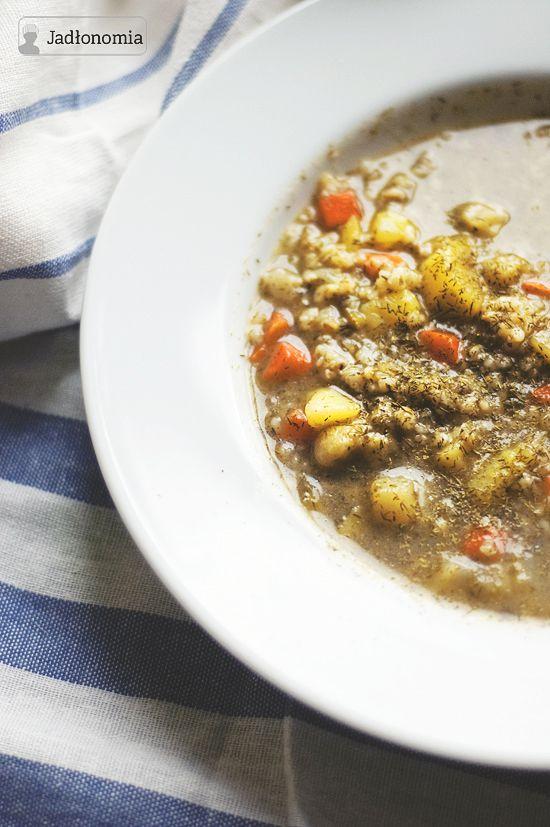 Krupnik z pieczonych warzyw » Jadłonomia · wegańskie przepisy nie tylko dla wegan