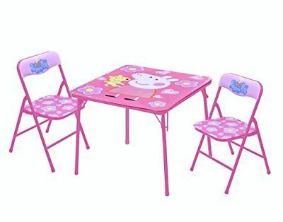 Peppa Pig Table & Chair Set 3 Piece Other TV/Movie Character Toys TV Movie