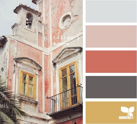 Italian tones via design seeds--> this makes me miss Rome so much!