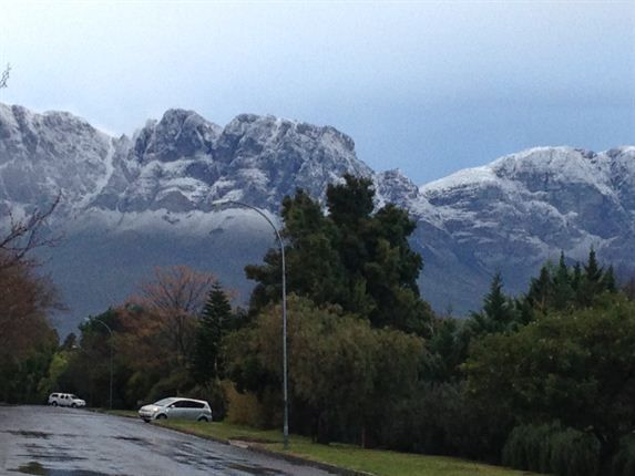 Cape Winter Storms | Hottentots Holland mountains Photo: News24/ Gareth Allen