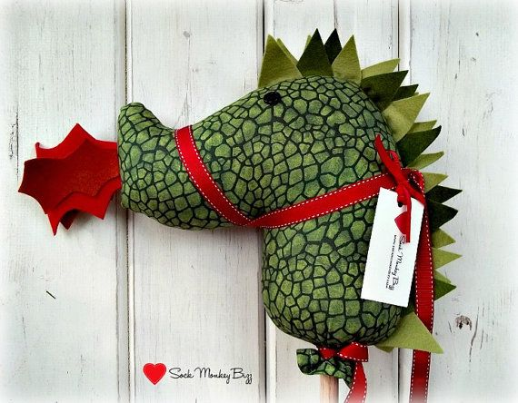 Dragon Stick Horse, Hobby Horse Dragon, Classic on Etsy, $39.50