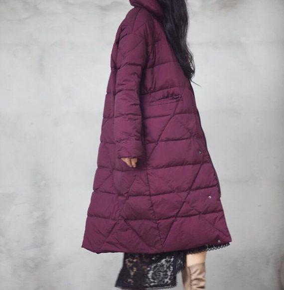 Frauen Winter Down Jacke dicke Frauen warme von liferollpaint