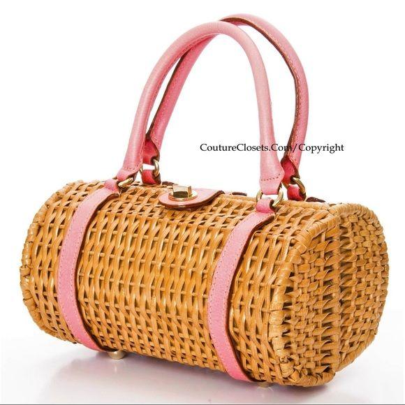 Authentic NEW Kate Spade Wicker Bag w Box \u0026amp; CardsNWT | Kate Spade ...