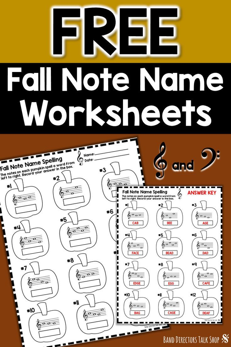 Music Worksheets Freebie Fall Note Name Worksheets Thanksgiving Music Lessons Music Theory Worksheets Fall Music Worksheets