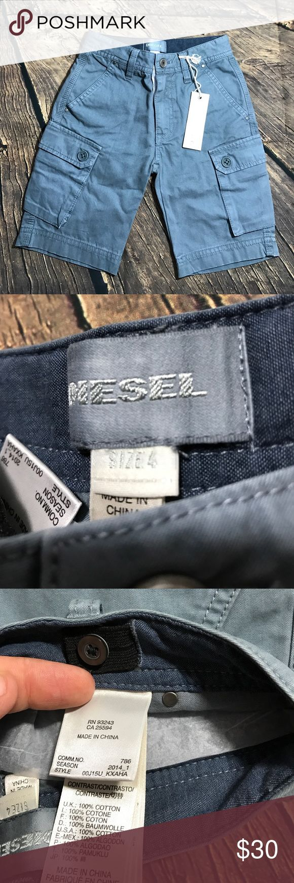 Boy Diesel brand cargo shorts size 4Y Cargo Grey Diesel shorts size 4Y new with tag Diesel Bottoms Shorts