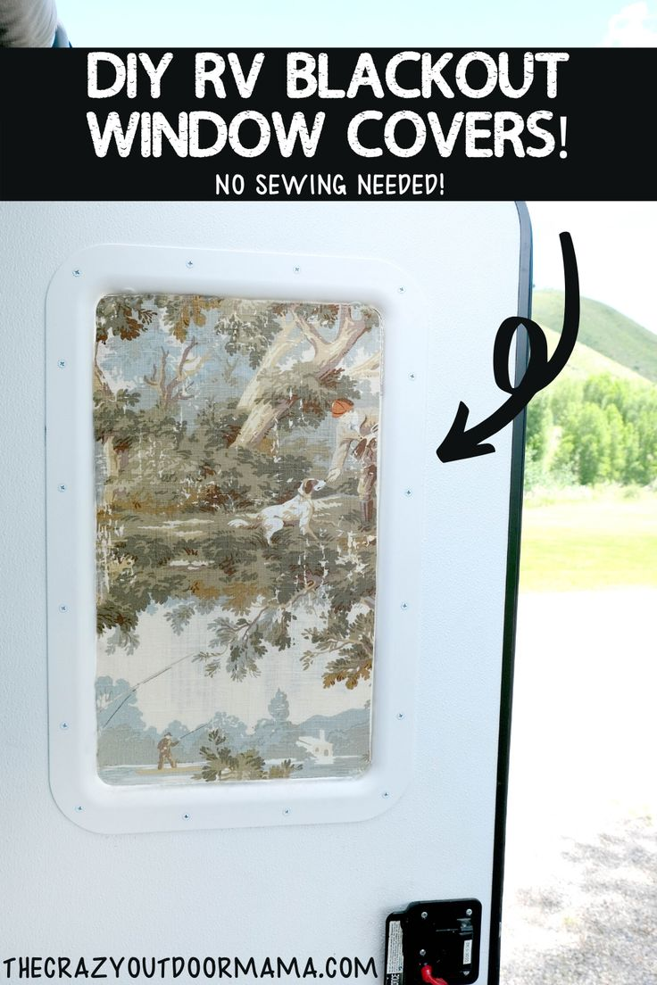 How to DIY RV BlackOut Window Covers for Your RV or Camper ...