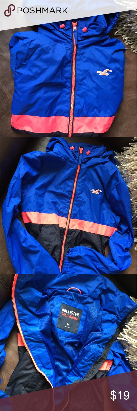 New Hollister Windbreaker Jacket Size M. Perfect condition. New but no tags. Hollister Jackets & Coats