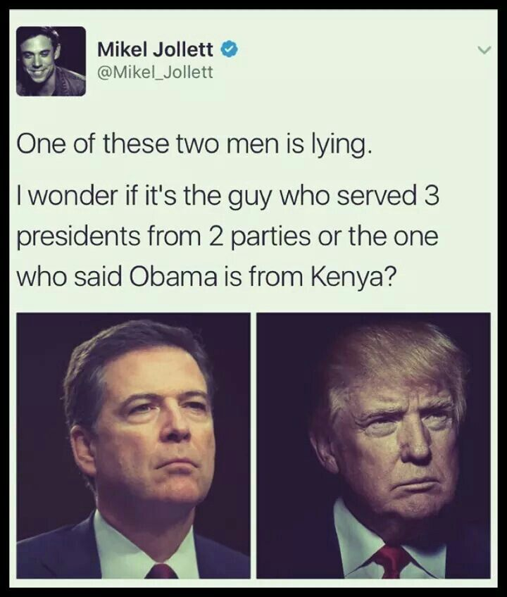 There's literally no contest in terms of their credibility: Comey wins hands down