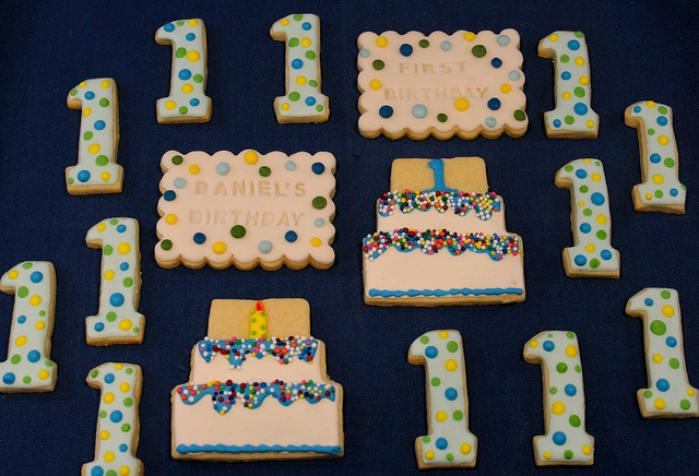 shopping list: Cakes Cookies, First Birthday Cookies, Photo
