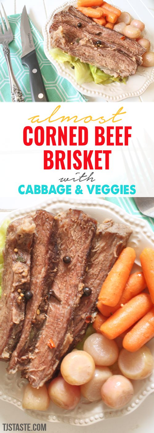 Almost Corned Beef Brisket with Cabbage and Veggies (Low Carb, Gluten Free, THM S) via @TJsTaste