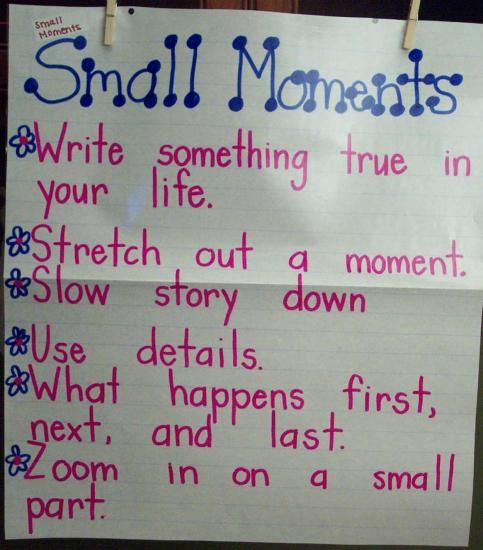 Writing Personal Narratives Using Small Moments!!