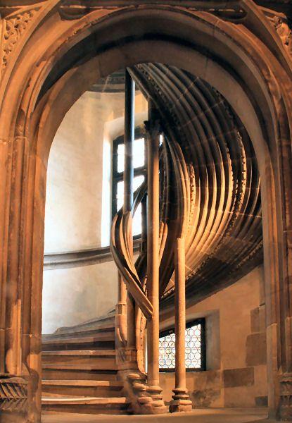Escalier en vis de l'Oeuvre Notre-Dame - Strasbourg