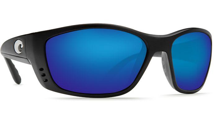 Costa Del Mar Fisch 580G Black/Blue Mirror Polarized Sunglasses