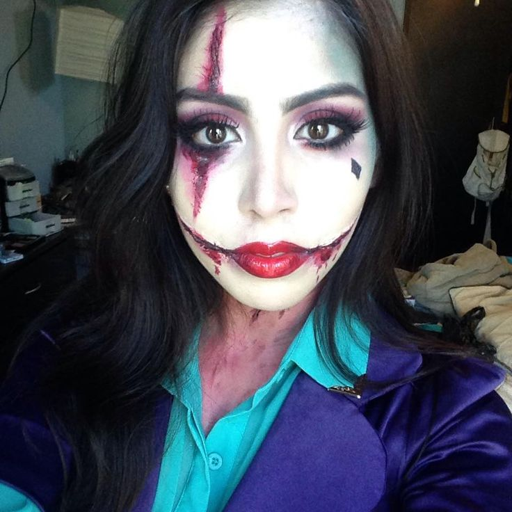 Female Joker Makeup. Halloween Makeup Ideas | Halloween | Pinterest | Female Joker Makeup ...
