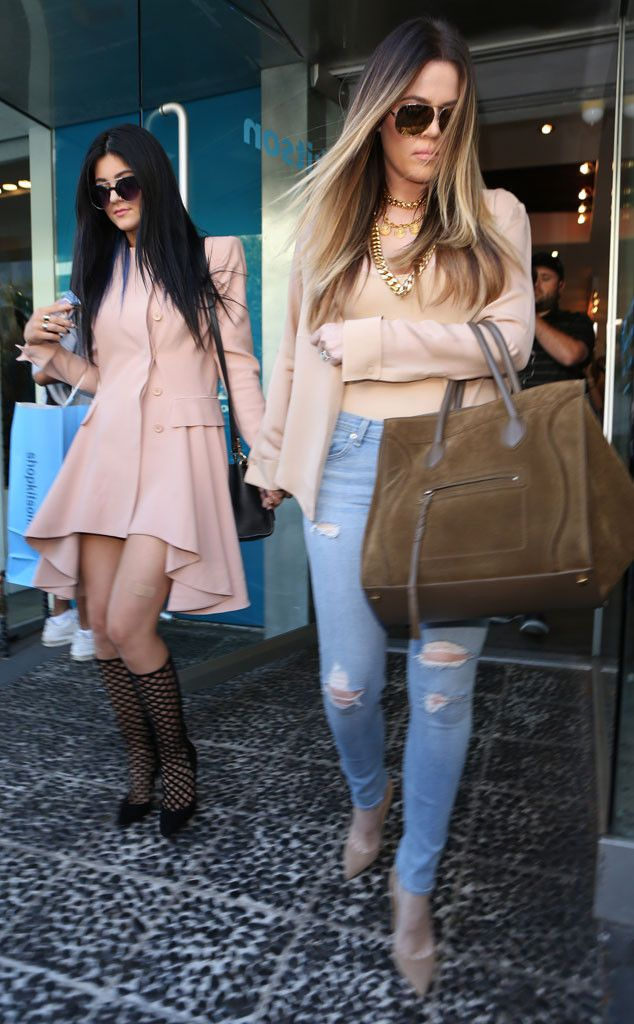 Khloé Kardashian Odom and Kylie Jenner look super cute in their early fall #fashion!