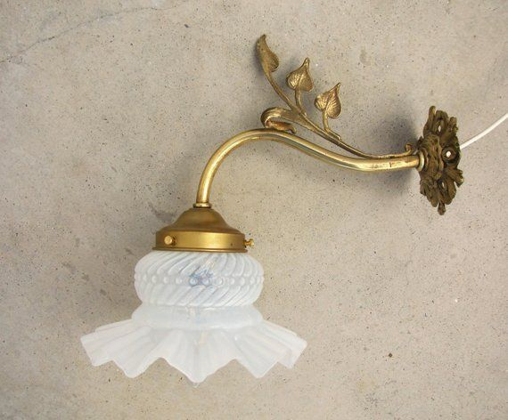 French Antique 1900s Art Nouveau Wall Sconce With Spectacular Etsy French Antiques Antique Wall Lights Vintage Sconce