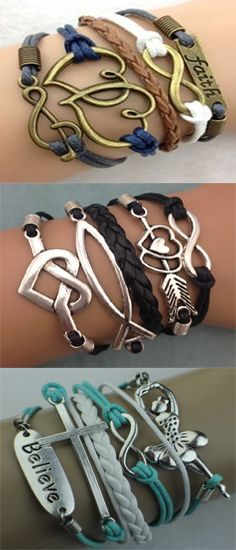 """Use coupon code: 3CHRISTIAN and get 3 Modwraps of your choice for FREE! ($45.00 value) – Just pay shipping. Over 60 designs (lots of bracelets with crosses, the word """"faith"""", music notes, and many more!) Free bracelet deal ends 3/31/16. See all the ModWrap bracelets here --> http://www.gomodestly.com/christian-bracelets/"""
