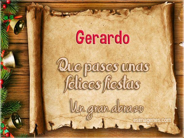 Feliz Navidad Gerardo - Imágenes Tarjetas Postales con Nombres | Feliz…