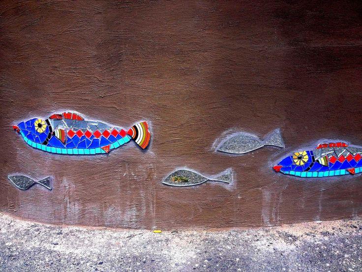Mosaic fish around Muizenberg