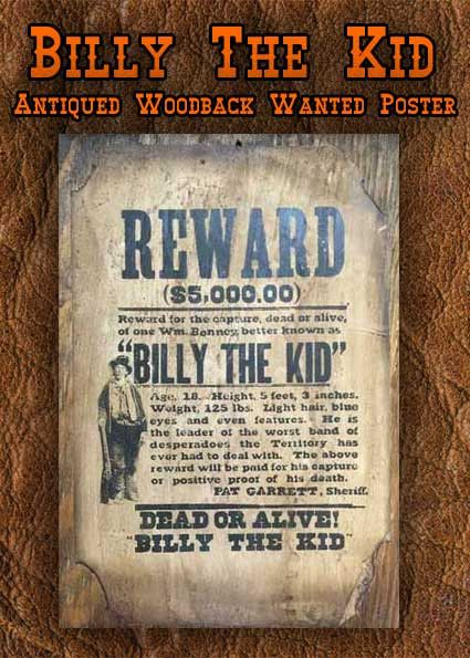 Billy the kid museum on Pinterest Led lighting home, Display - old fashioned wanted poster