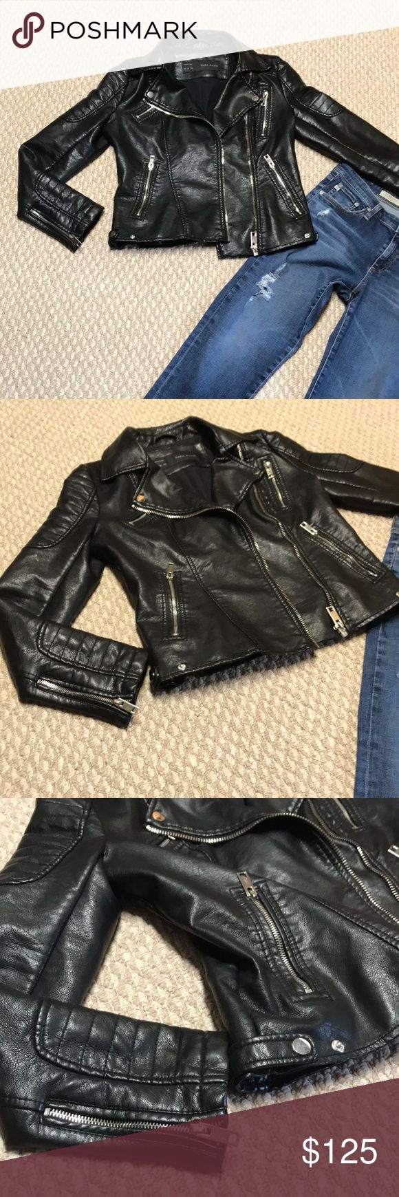 Zara Motorcycle jacket medium EUC!! No signs of wear of