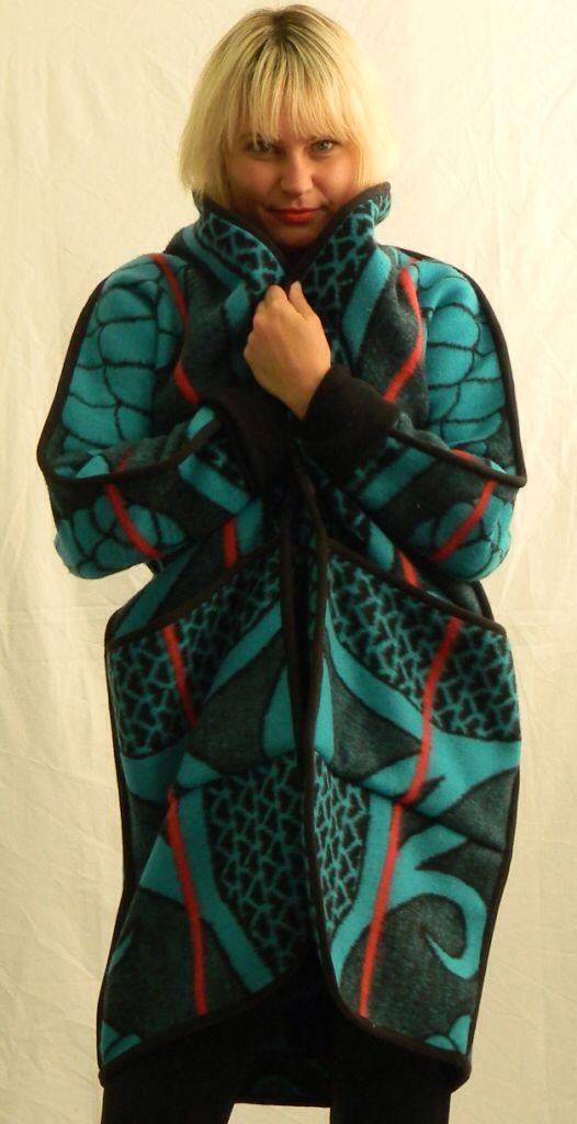 Snuggle up in a WEISS CapeTown blanket coat www.weissdesignstudio.co.za