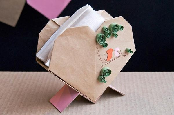 For the love of serviettes - a serviette holder made by Cardboardia.