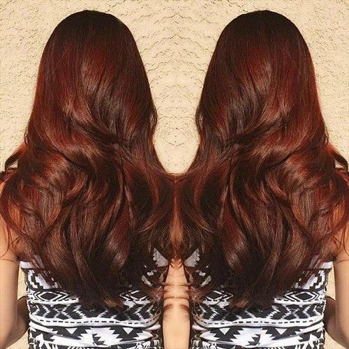 Beautiful Copper Brown Haircut for Thick Hair